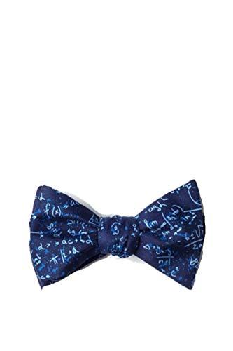 Mens Blue Microfiber Math Mathematics Equations Butterfly Self Bow Tie