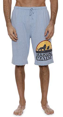 (Disney Men's Lion King Hakuna Matata Sleep Shorts, Grey, Grey, Size M)