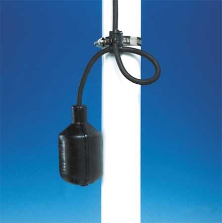 Float Switch, 125/250VAC, Cord L. 30 ft