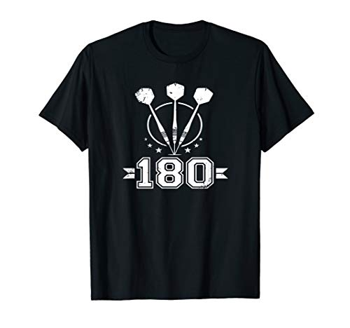 Darts Shirt Funny 180 Dartboard Bullseye Gift Dart Player