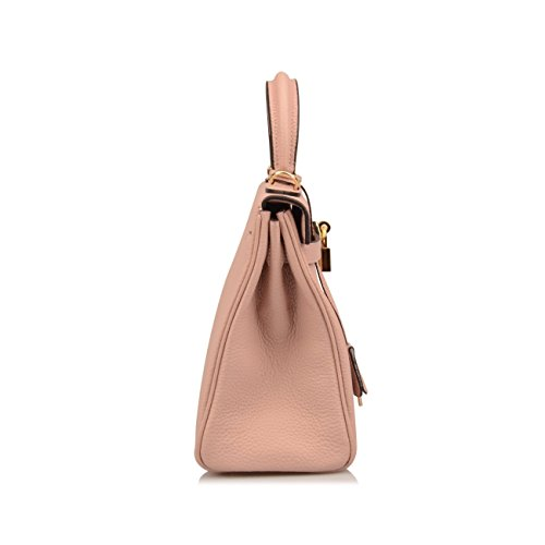 Handbags Pink Shoulder 25 32CM Women's Hobo CM Ainifeel Padlock 28CM Purses Nude Bag nq0w67