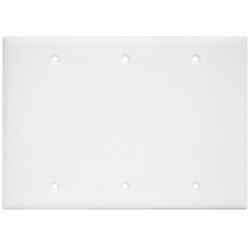 ENERLITES Blank Device Wall Plate, Size 3-Gang 4.50