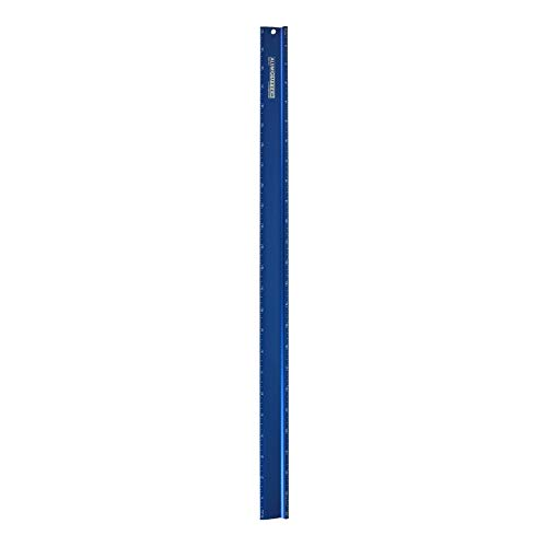 Alumicolor Alumicutter, Safety Ruler and Straight Edge, Aluminum, 24 inches, Blue (1314-5)