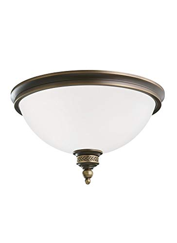 Sea Gull Lighting 75350EN3-708 Two Light Ceiling Flush Mount, Estate Bronze