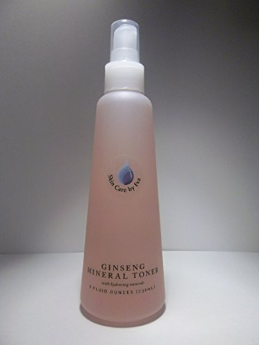 Stimulating & Refreshing and Revitalizing Ginseng Mineral Toner 5 Oz - with Witch Hazel and Sodium PCA for softening and moisturizing. Bee Pollen heals and hourishes Ginseng Extract Stimulates and revitalizes bringing a healthy warm flush & glow to the skin by SKIN CARE BY EVA