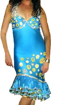Escandaria Dress in Aqua for Melaya Leff Dance