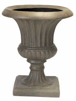 Traditional Fiberglass Urn Planter 18inches by Windowbox