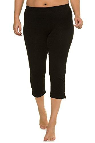Ulla Popken Women's Plus Size Stretch & Support Cropped Leggings Black 20/22 574952 10 ()