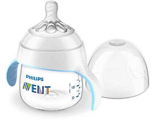 Philips Avent Natural Oefenbeker – 150 ml – 4m+ – Speen voor gemiddelde toevoer – Ergonomische oefenhandvatten…
