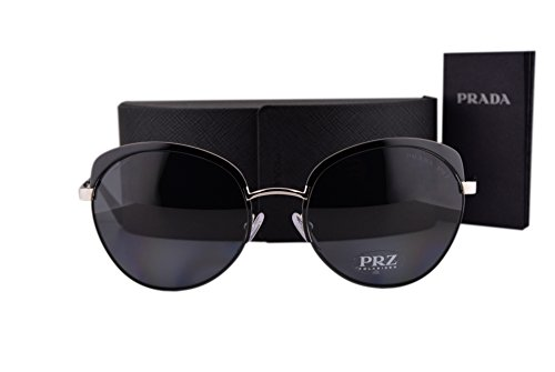 Prada PR54SS Cinema Evolution Sunglasses Black w/Polarized Gray Gradient Lens 7AX5Z1 SPR54S For - Sunglasses Cinema Prada Round