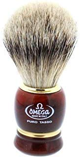 Omega 636 Silvertip Badger Shaving Brush