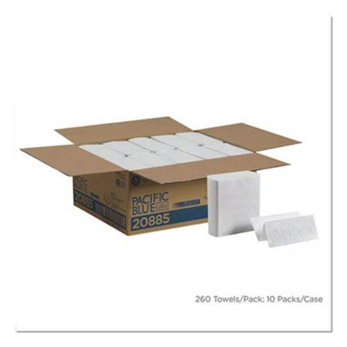 Z-fold Bigfold Towel (DSS Bigfold Z C-fold Paper Towels Jr, White, 10/260)