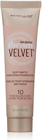 Maybelline Dream Velvet Soft-Matte Hydrating Foundation, Porcelain Ivory, 1 fl. oz.