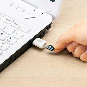 イーサプライ スティックタイプ 小型 カードリーダー microSD 対応 ...