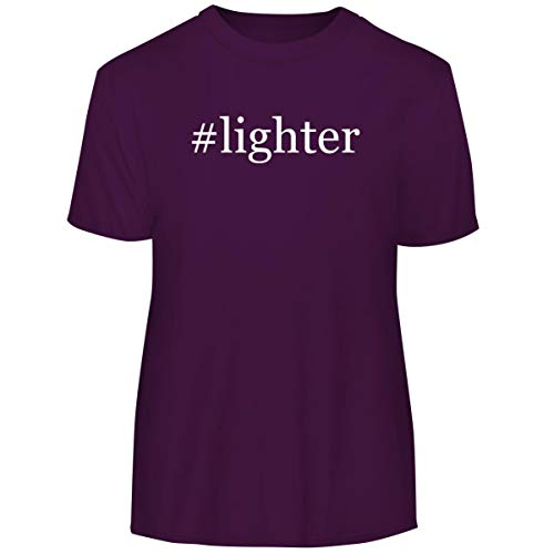 - #Lighter - Hashtag Men's Funny Soft Adult Tee T-Shirt, Purple, Small