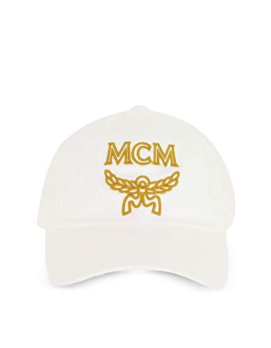 Mec8amm03wt001 Mujer Sombrero Mcm Algodon Blanco A7ffHq