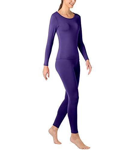 Viola Senza Ti Pantaloni Lunghe Lapasa shirt Leggero Maniche Termico T Ultra amp; Set L17 Invernali Donna Tiene Al Stress Caldo q0pHAx0t