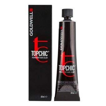Goldwell Topchic Hair Color Coloration (Tube) 4MG Blackened Matt Gold