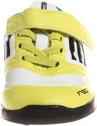 Adidas F50 bambini, in stile casual, con lacci, in materiale sintetico, colore: verde, taglia 3 G62137