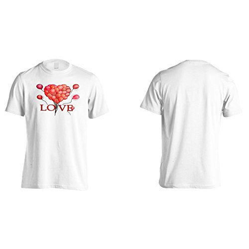 Neue Liebe Mit Roten Ballons Herren T-Shirt l407m