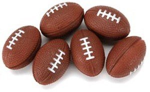 Foam Balls 31mm 6/Pkg-Football