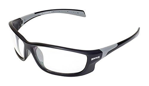 - Global Vision Eyewear Hercules 5 Safety Glasses, Clear Lens, Matte Black Frame