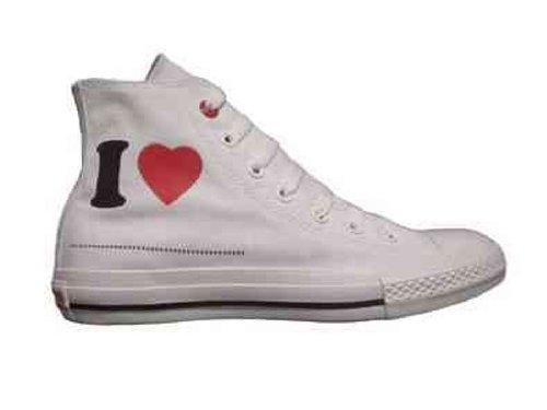 Converse Chuck Taylor Hi Ox Red White Sz 8 M/10 W
