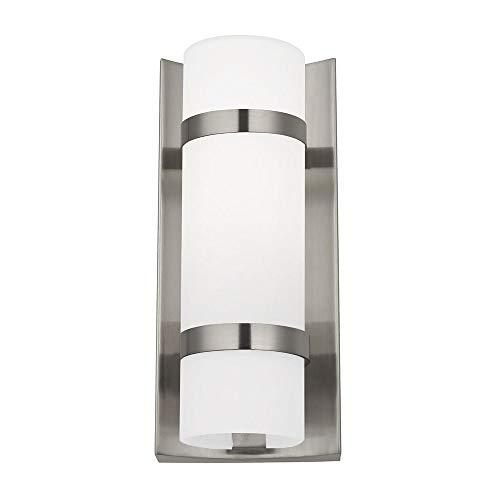 - Satin Nickel Indoor/Outdoor Wall Light