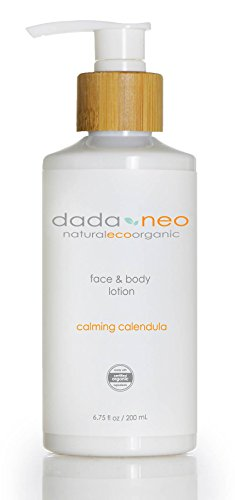 Organic Baby Lotion Naturally Safe for Face and Body by Dada & Neo - Soft Comforting Natural Formula For Sensitive, Dry, Eczema, Cradle Cap. Paraben Free and Pthalate Free (Oxygen Body Lotion)