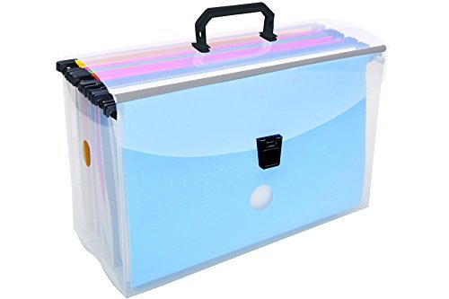 Dello- Filing Briefcase With 10 Assorted Color Hanging Folders