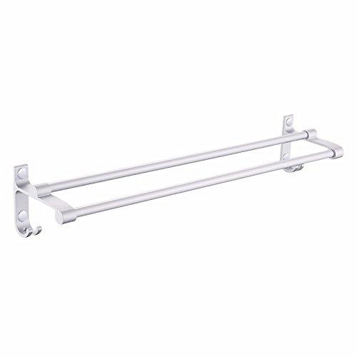 LVLIDAN Bathroom Towel rail Contemporary Bar Aluminum Double layer Hooks Wall mounted 400X137X115mm