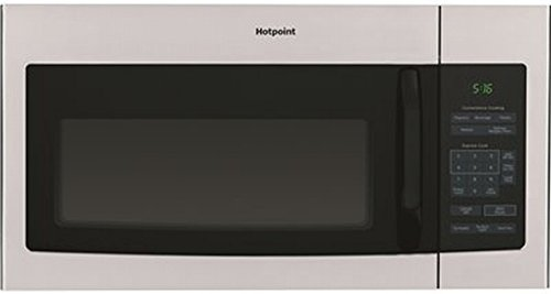 Ge MICROWAVES Hotpoint 1.6 Cu. Ft. Over-The-Range Microwave Oven, Stainless Steel, 1000W - 2492135