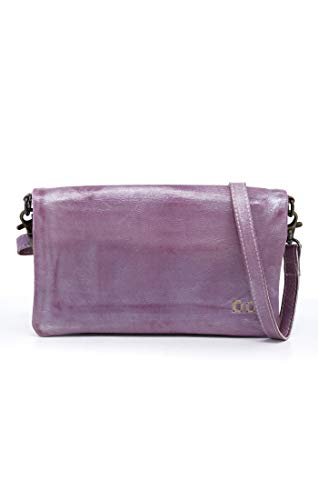 Bed|Stu Women's Cadence Leather Wallet, Crossbody or Clutch (Lilac Rustic Silver Metallic) by Bed|Stu (Image #3)