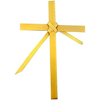 Amazon Com Braided Palm Leaf 8 Inch Latin Cross For Home