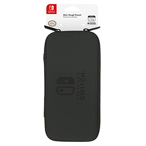 Nintendo Switch Lite Slim Tough Pouch (Black) By HORI - Officially Licensed By Nintendo