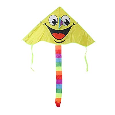 Huilier Cartoon Smiling Face Kite for Kids Outdoor Sports Smiley Animation Flying Kites: Arts, Crafts & Sewing