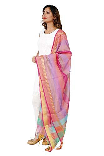 Indian Traditional Dupatta Chanderi Silk Hand Woven Zari Scarf Stole Art Long Stole Banarasi Dupatta Shawl 92