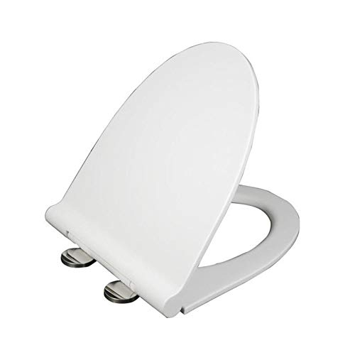 Anddoa Mrosaa Universal Thicken Slow-Close U Type Toilet Seat Covers Set PP Board White Antibacterial Lid - 9027 by Anddoa (Image #1)