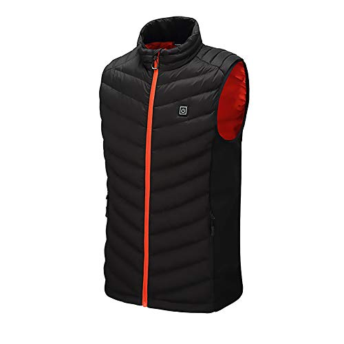 Heated Vest for Men Rechargeable Adjustable Washable USB Charging Heating Jacket Clothing Winter Warm Vest Washable & Safety for Back Pain Outdoor Hunting Camping Hiking (No Battery)