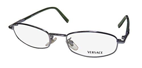 Versace M47 Womens/Ladies Designer Full-rim Eyeglasses/Eye Glasses (49-18-0, Slate / Transparent (Sleek Green Slate)