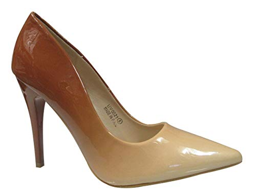 0021 New Ladies 2 Tone Ombre High Heel Fashion Party Pointed Court Shoes