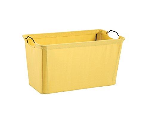- ClosetMaid 1626 Wide Wire Frame Fabric Bin, Yellow