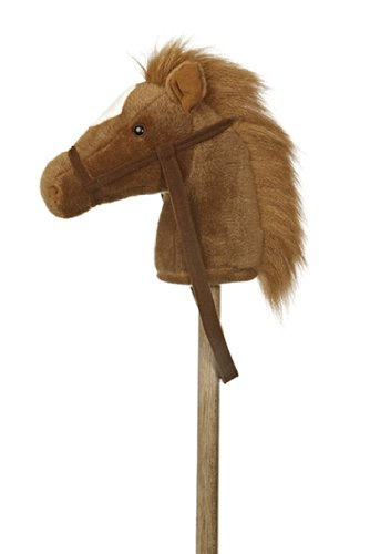 Aurora World World Giddy-Up Stick Horse 37″ Plush, Brown