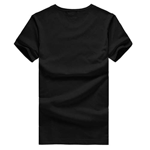 NUWFOR Men Short Sleeve T Shirt Blouse With a Giant Front Pocket BucketTee T Shirt (Black,XS US/S AS Bust:34.4'') by NUWFOR (Image #3)