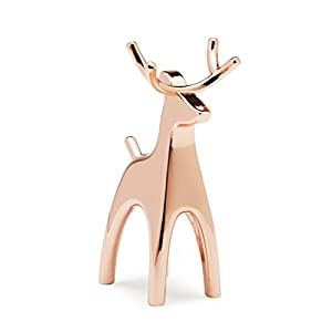 Umbra Anigram Reindeer Ring Holder for Jewelry, Copper