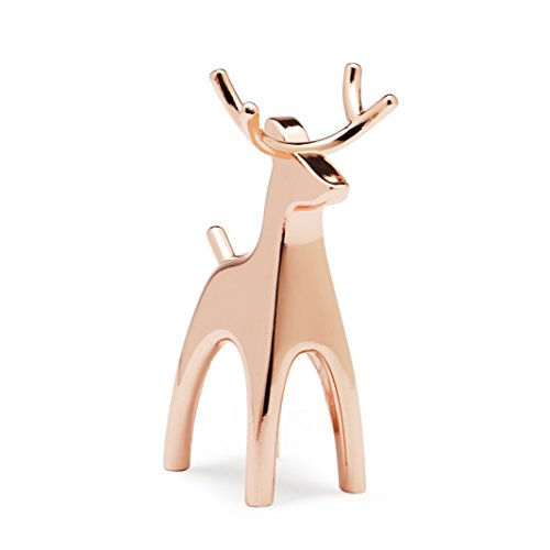 (Umbra Anigram Reindeer Ring Holder for Jewelry, Copper, )