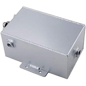 """Universal Aluminum Coolant Overflow Tank Expansion Bottle 8/"""" x 5/"""" x 4/"""" Silver"""