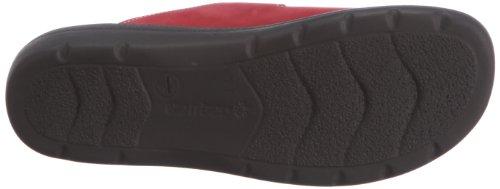 Ganter Selina, Weite F 3-202902-41000 - Zuecos de cuero nobuck para mujer Rojo