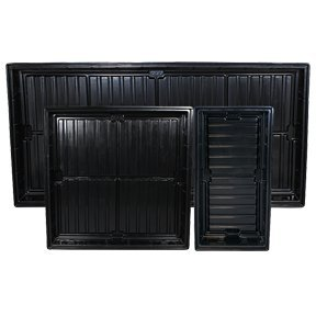 Easy Clean ABS Black Tray O.D 4 ft x 6 ft