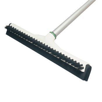 Unger Sanitary Brush W/Squeegee, 18